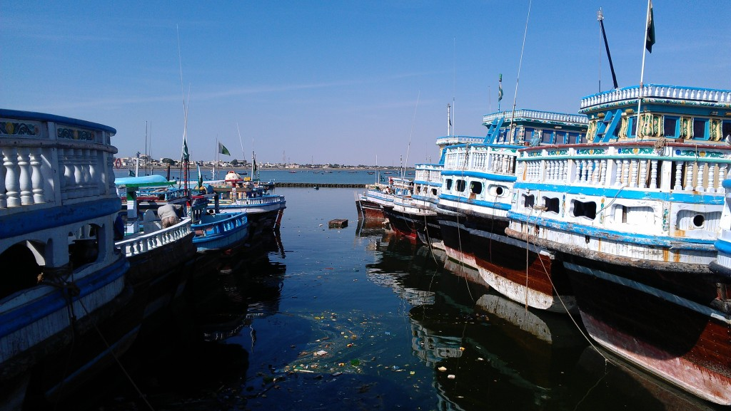 Fishing boats and launches on Gwadar port