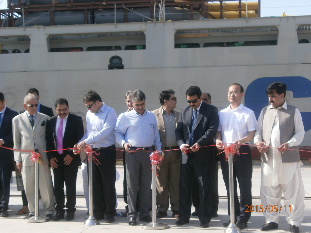 Pakistani and Chinese officials formally inaugurate the service (Source: PakVoices)