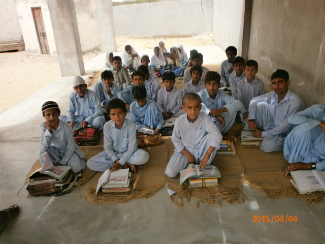 Students at a school in Pushkaan