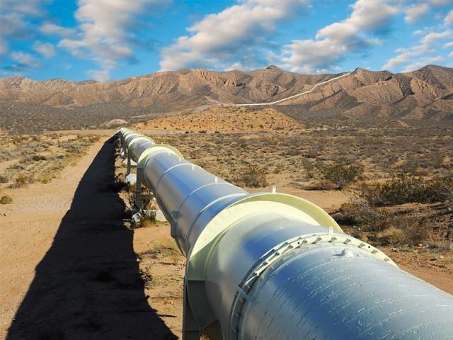 A sui gas pipeline in Balochistan