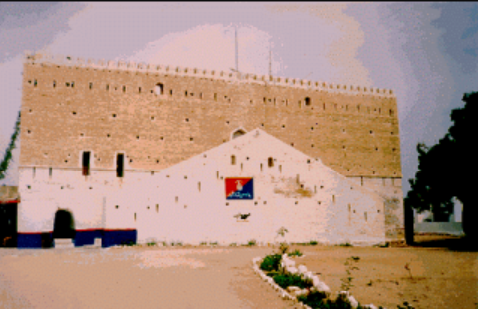 Omani fort now used as police station