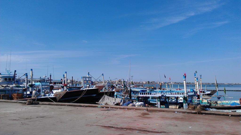 A view of boats near Gwadar port